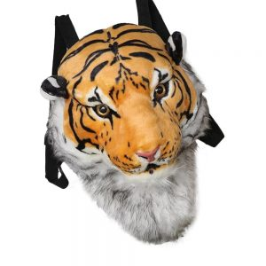 3D Animal Design Head Backpack Zipper Unisex Kids School Bag