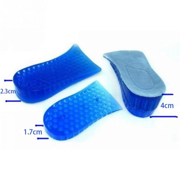 Soft Comfy Light Weight Silicone Gel Height Extension Unisex Shoe Insoles