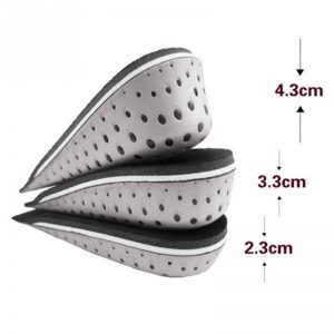 Unisex Height Extension Half Insole Comfort Cushion Pads