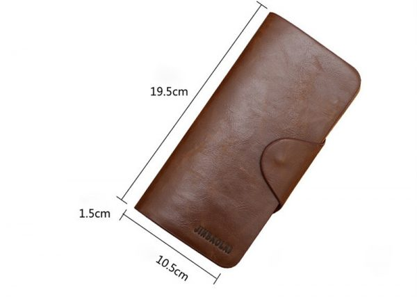 PU Leather Multi Card Pockets Long Men Wallet