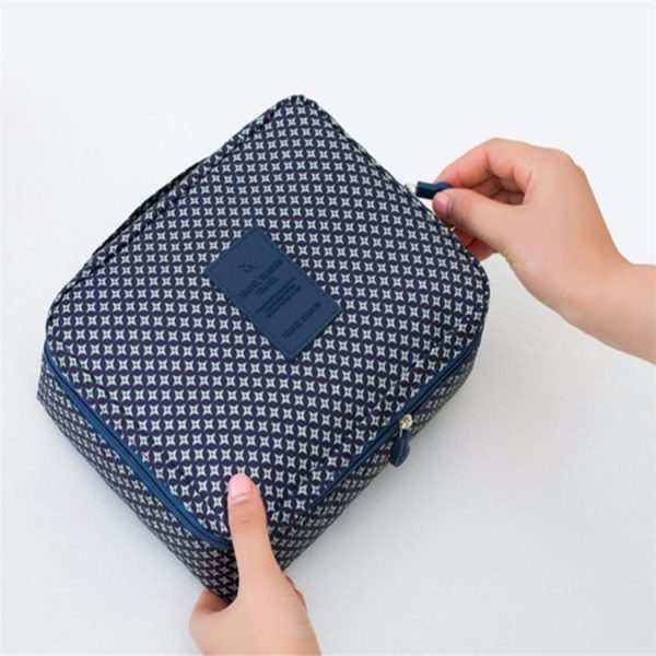 Multi Compartment Travel Bag Cosmetic Storage