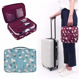 Multi Compartment Cosmetic Toiletry Travel Bag