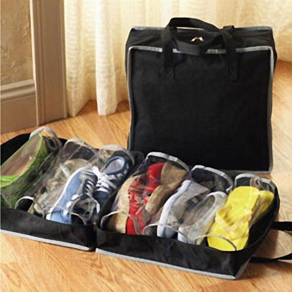 6 Slots Light Handy Shoe Storage Travel Zipped Bag