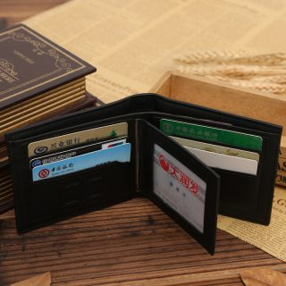 Stylish PU Leather Men Multi Credit Card Slots Pockets Wallet