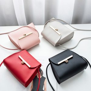Elegant PU Leather Messenger Women Shoulder Bag