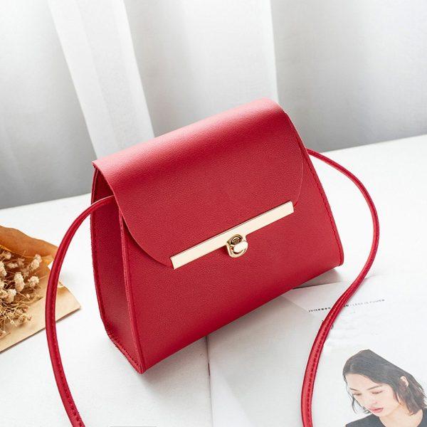 Elegant PU Leather Messenger Women Shoulder Bag