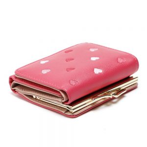 Pretty Multi Color Heart Pattern PU Leather Women Wallet