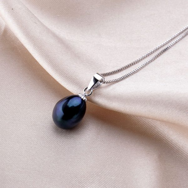 Genuine Freshwater Natural Pearl Sterling Silver Women Pendant Necklace