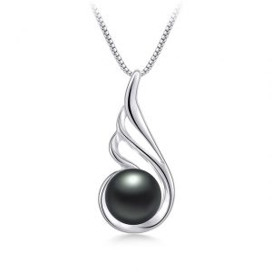 Graceful 925 Sterling Silver Genuine Natural Freshwater Pearl Women Pendant Necklace