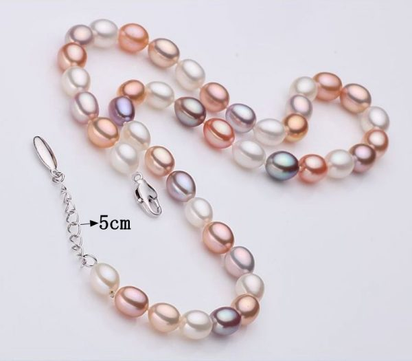Multi Color Genuine Natural Freshwater Pearl Necklace Bracelet Earrings Women Jewelry Set