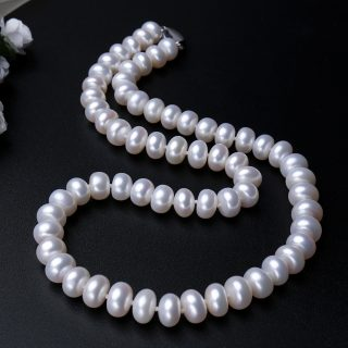 Premium Genuine Natural Freshwater Pearl Necklace Women Jewelry