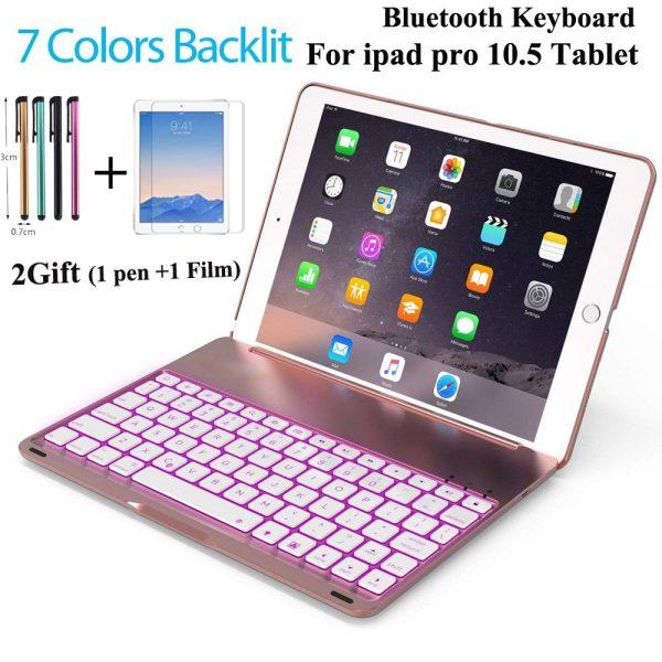 Wireless Bluetooth Backlit Light Keyboard Case iPad Pro 10.5 A1701 A1709 +2 Free Gifts