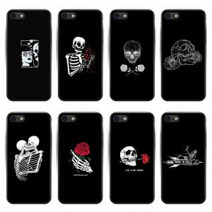 Cute Love Halloween Skeleton Iphone Back Case