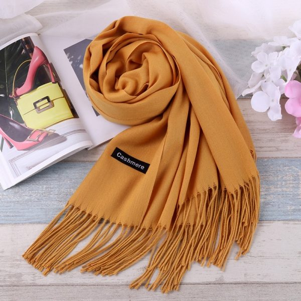 Plain Simple Design Classic Warm Men Women Unisex Scarf