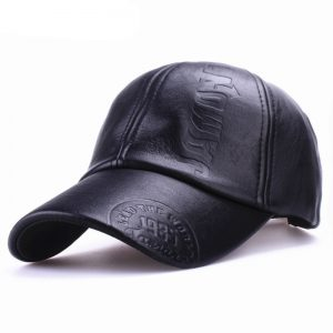 Genuine Leather Adjustable Baseball Cap Men Hat
