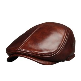 Genuine Leather Men Winter Cap Ears Cover Hat