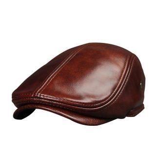 Genuine Leather Men Winter Cap Ears Cover Hat