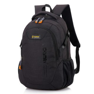 Casual Large Capacity Polyester Soft Students Boys Men Backpack