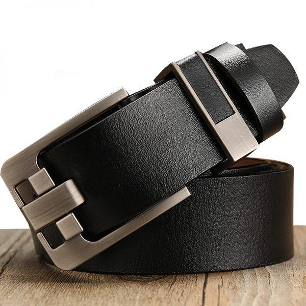Premium Genuine Leather Simple Buckle Men Belt