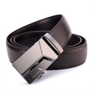 Premium Faux Leather Cool Pattern Buckle Men Belt
