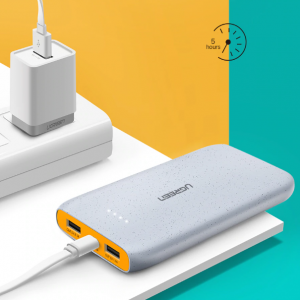 Dual USB Compact Power Bank Iphone Xaomi Charger
