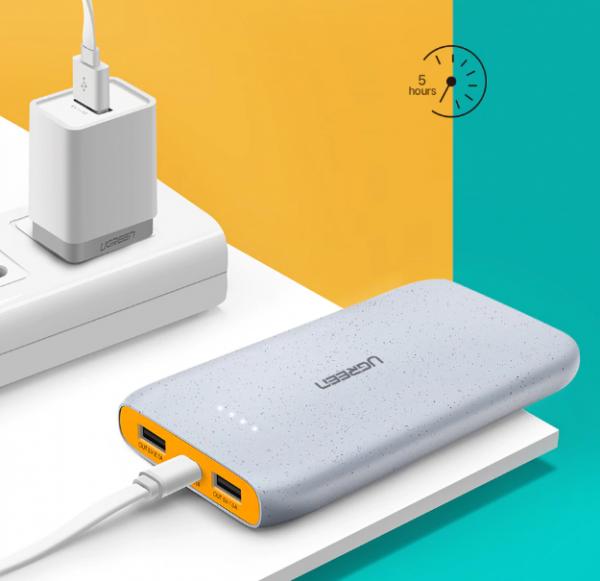 Dual USB Compact Power Bank Iphone Xaomi Charger