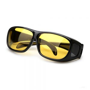 UV 400 Polarized Night Driving Men Cover Over Prescription Sunglasses