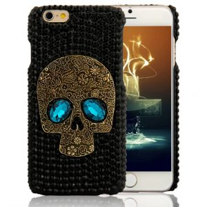 Rhinestone Skull IPhone Samsung Mobile Back Cover Cases