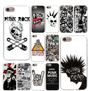 Cool Punk Style Skull IPhone Mobile Plastic Back Case
