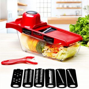 Nine Pieces Set Vegetable Hand Grater Stainless Steel Blades