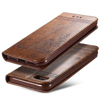 Faux Leather Card Pocket Wallet Flip Iphone Case Cover