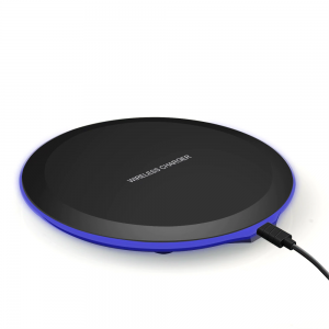 Round USB Connector Wireless Qi Smart Phone Charging Pad