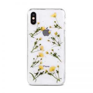 Real Dried Flowers IPhone X XS XR XS Max 6 6S 7 8 Plus Clear Case Cover
