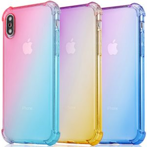 IPhone XS Max XR IPhone 9 X 7 8 7 Silicon Clear Shock-Absorption Back Case