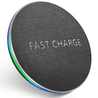 Qi Wireless Charger10W Fast Samsung IPhone 8 Plus X XS XSMAX Wireless Charging Pad