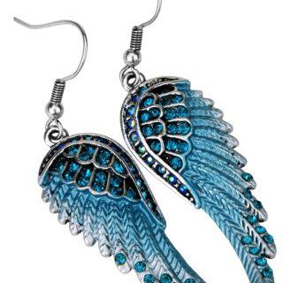 Pretty Angel Wings Crystal Dangle Women Earrings