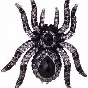 Halloween Spider Stretch Women Ring Scarf Clasp