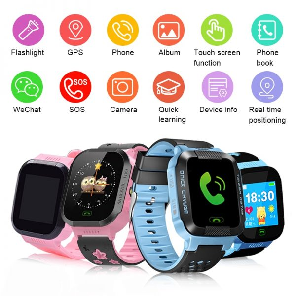 Kids Waterproof Safe LBS SOS Camera SIM Call Alarm Clock GPS Smart Watch
