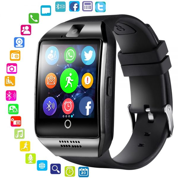 Touch Screen Bluetooth Android Phone Q18 TF Sim Card Camera Men Smart Watch