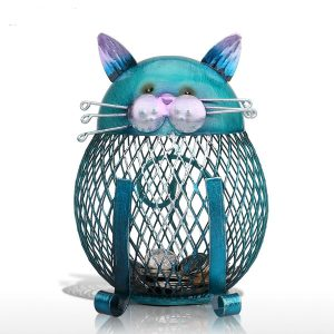 Cat Metal Coin Bank Storing Decoration Box
