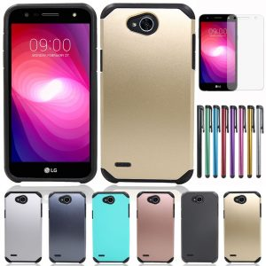Phone Case TPU PC Shockproof Cover LG X Power 2/LV7/K10 Power/X Charge/Fiesta LTE/Fiesta 2 L64VL L63BL
